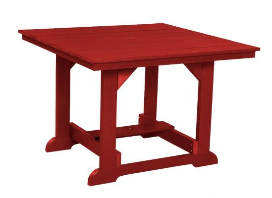 Cardinal Red Oristano Square Outdoor Dining Table