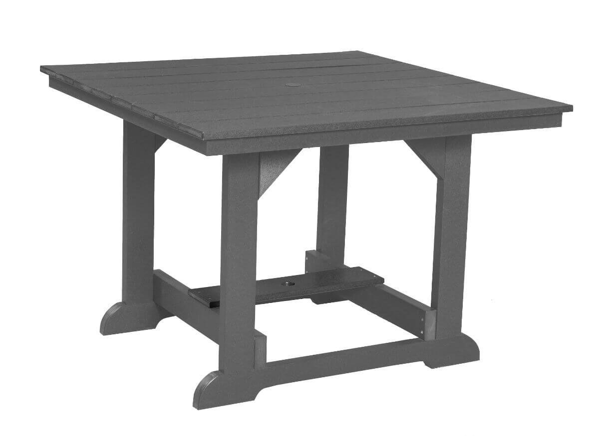 Dark Gray Oristano Square Outdoor Dining Table