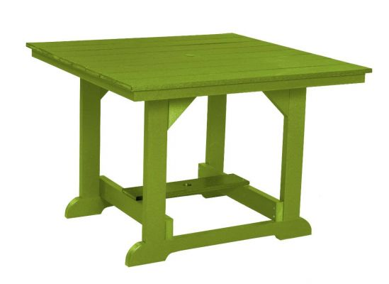 Lime Green Oristano Square Outdoor Dining Table