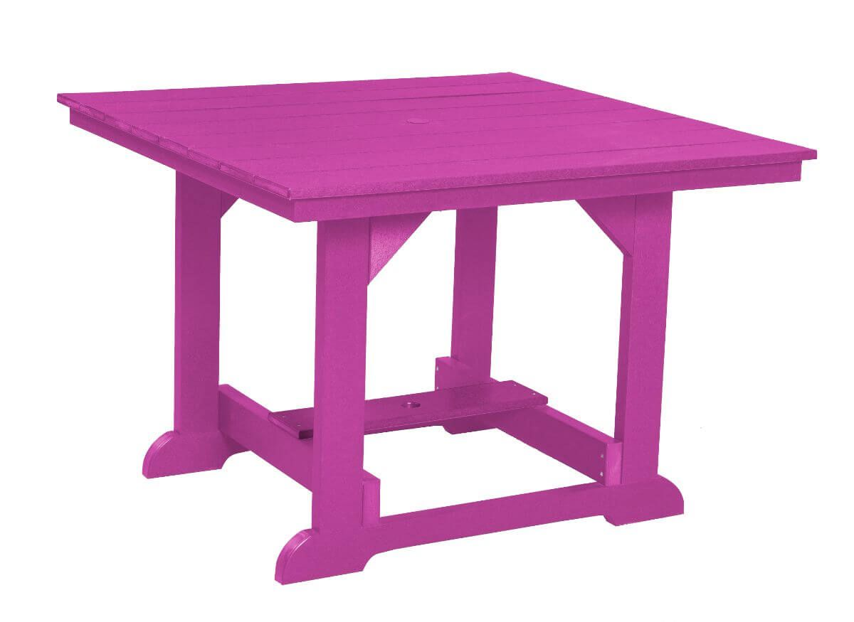 Purple Oristano Square Outdoor Dining Table