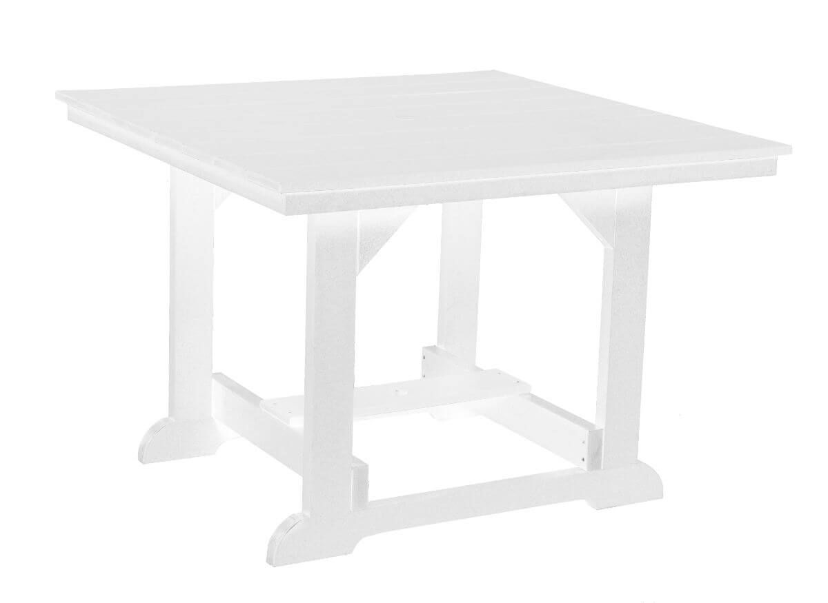 White Oristano Square Outdoor Dining Table