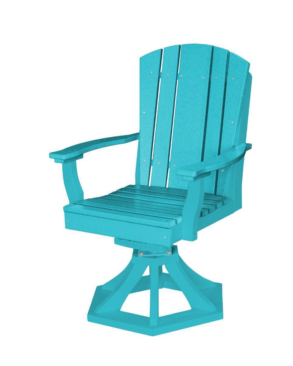 Aruba Blue Oristano Outdoor Swivel Dining Chair