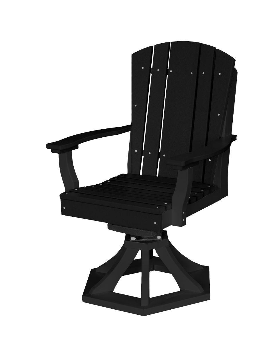 Black Oristano Outdoor Swivel Dining Chair