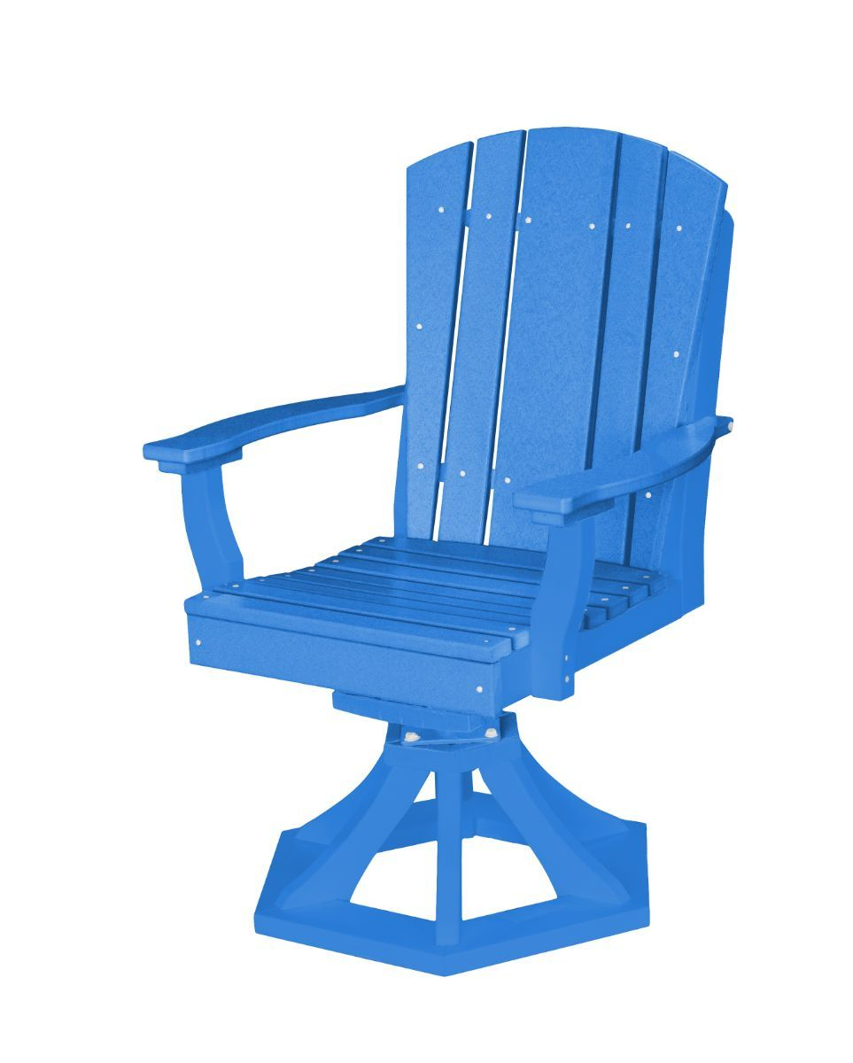 Blue Oristano Outdoor Swivel Dining Chair