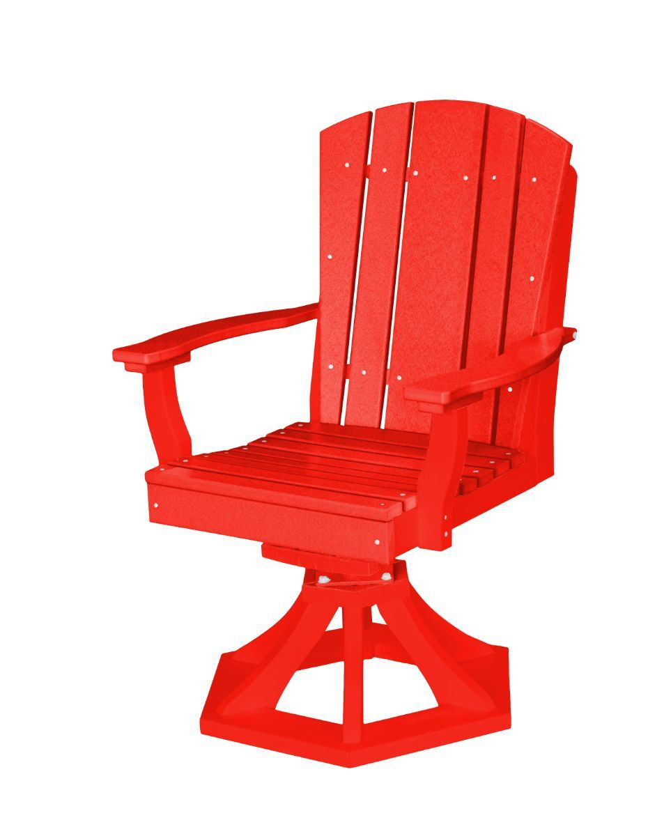 Bright Red Oristano Outdoor Swivel Dining Chair