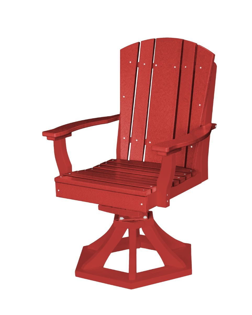 Cardinal Red Oristano Outdoor Swivel Dining Chair
