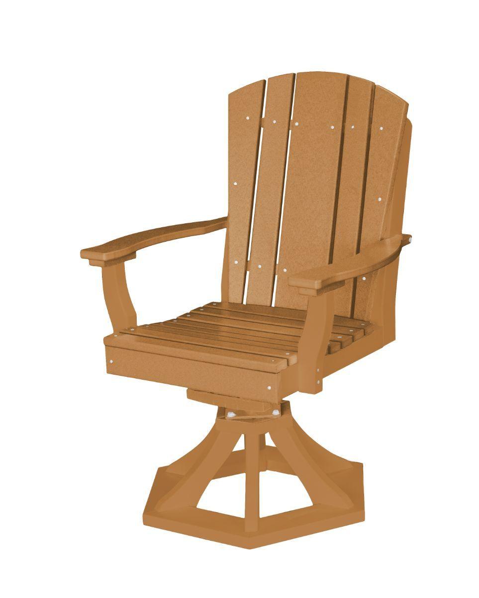 Cedar Oristano Outdoor Swivel Dining Chair
