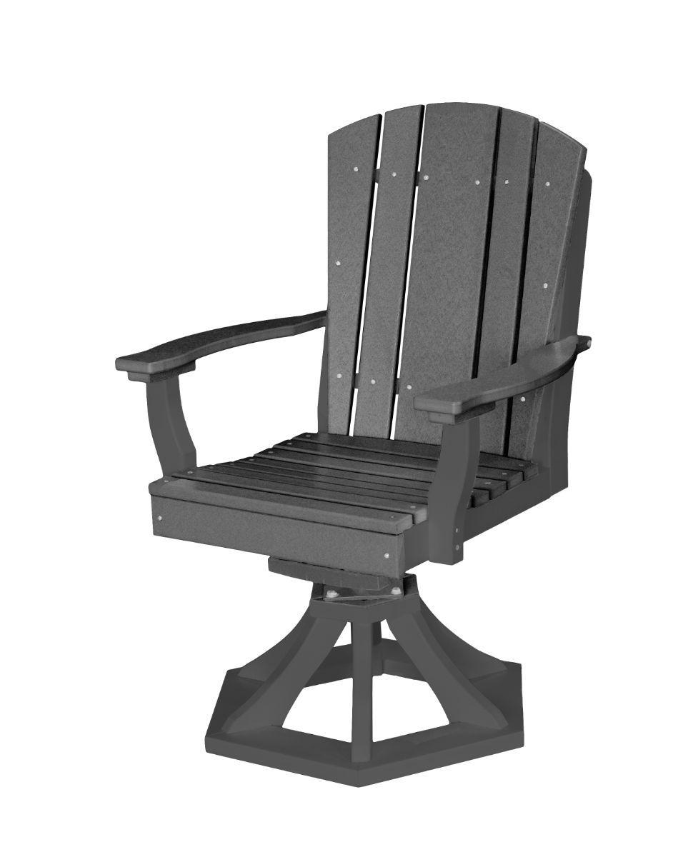 Dark Gray Oristano Outdoor Swivel Dining Chair