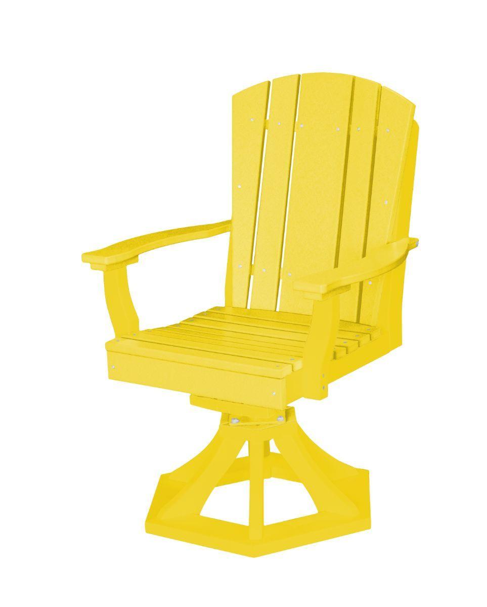 Lemon Yellow Oristano Outdoor Swivel Dining Chair