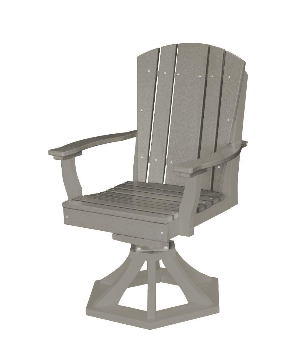 Light Gray Oristano Outdoor Swivel Dining Chair