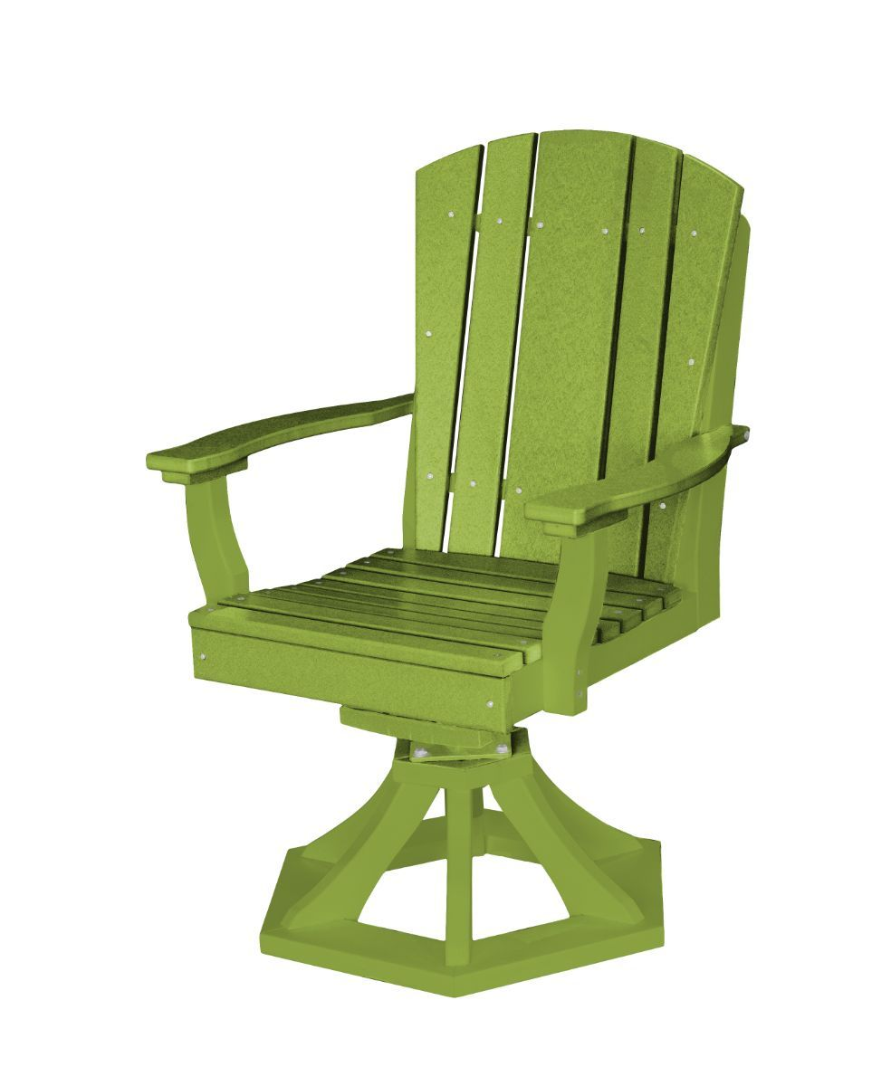 Lime Green Oristano Outdoor Swivel Dining Chair