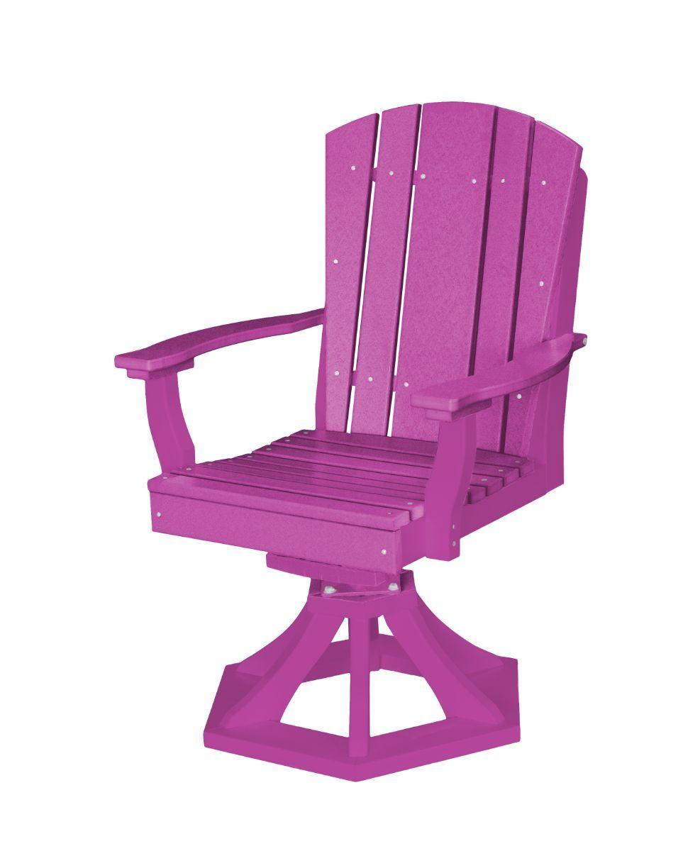 Purple Oristano Outdoor Swivel Dining Chair