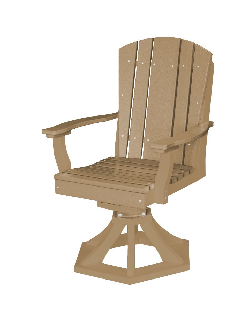 Weathered Wood Oristano Outdoor Swivel Dining Chair