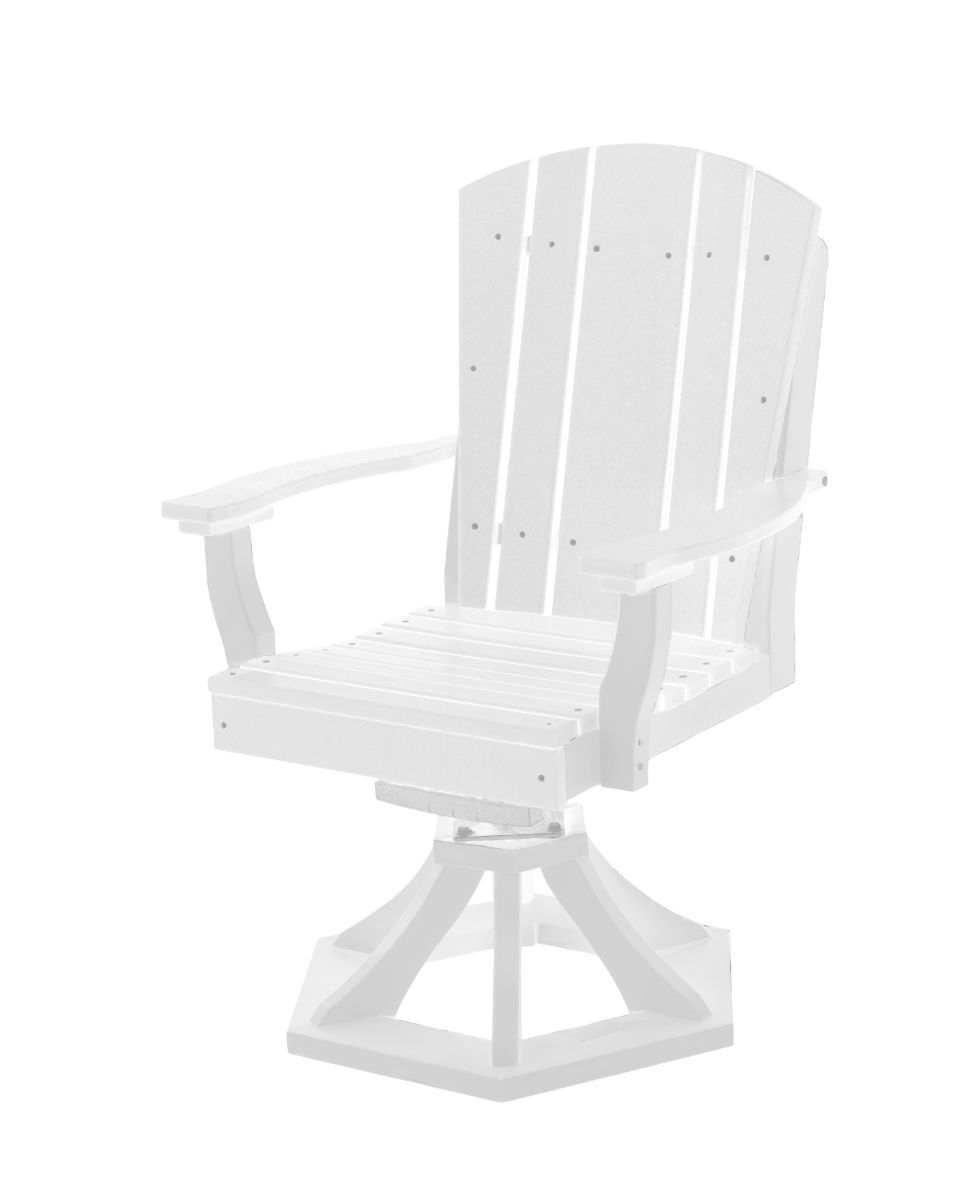 White Oristano Outdoor Swivel Dining Chair