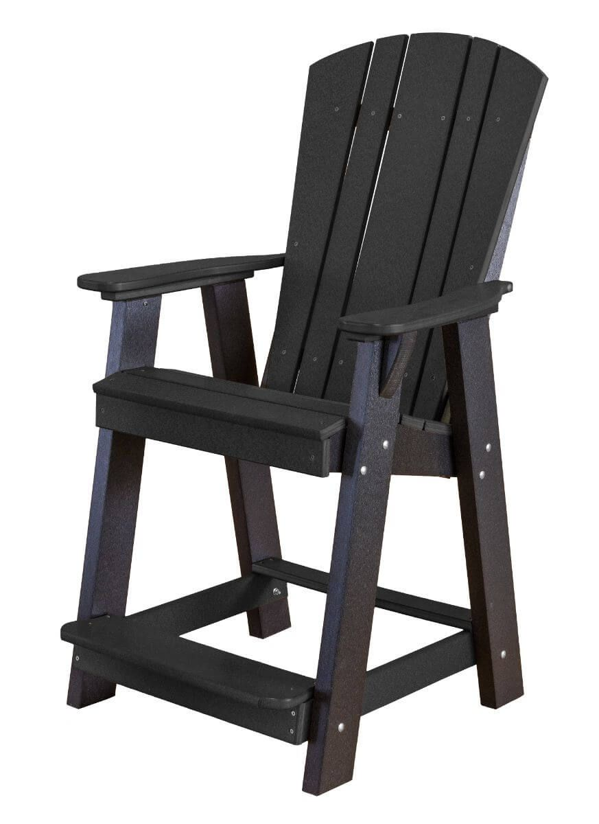 Black Oristano Balcony Chair