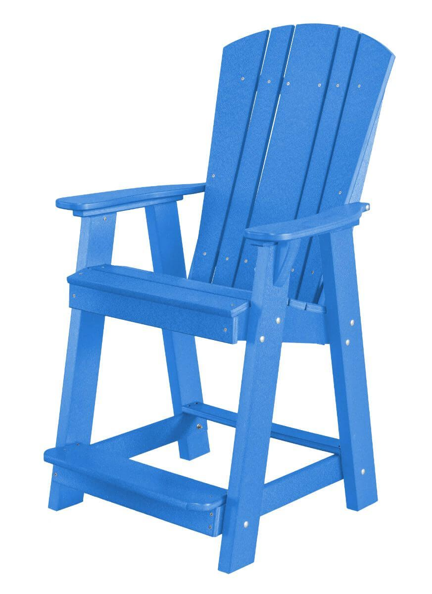 Blue Oristano Balcony Chair