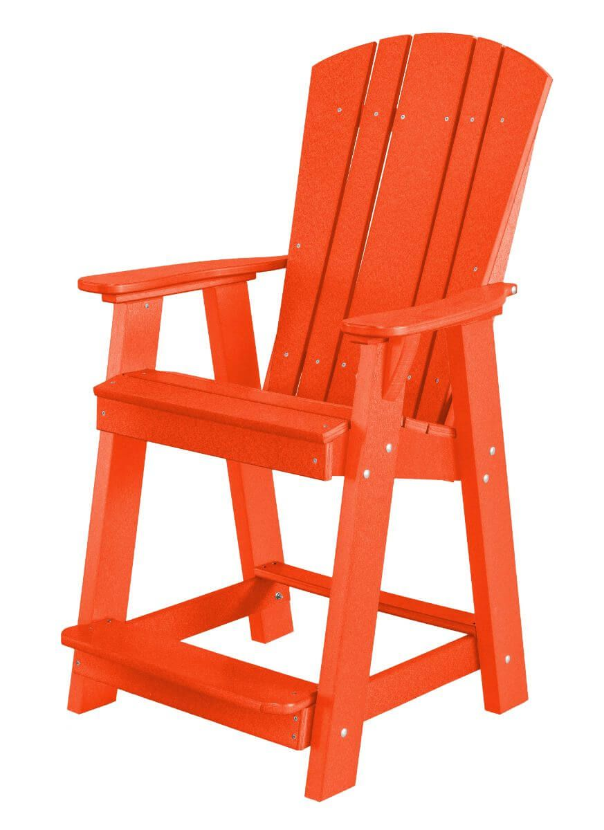 Bright Red Oristano Balcony Chair