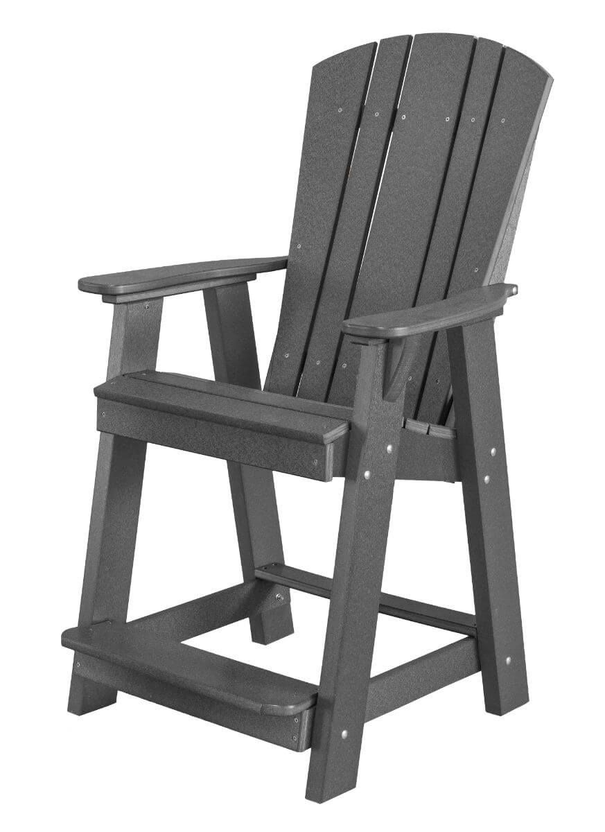 Dark Gray Oristano Balcony Chair