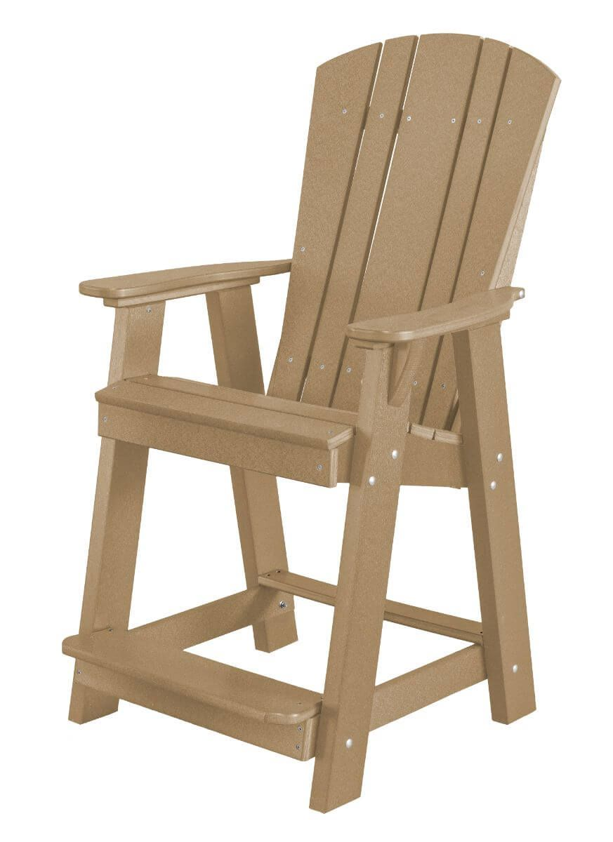 Weathered Wood Oristano Balcony Chair