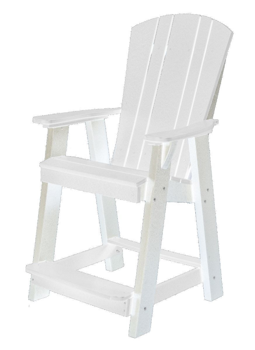 White Oristano Balcony Chair