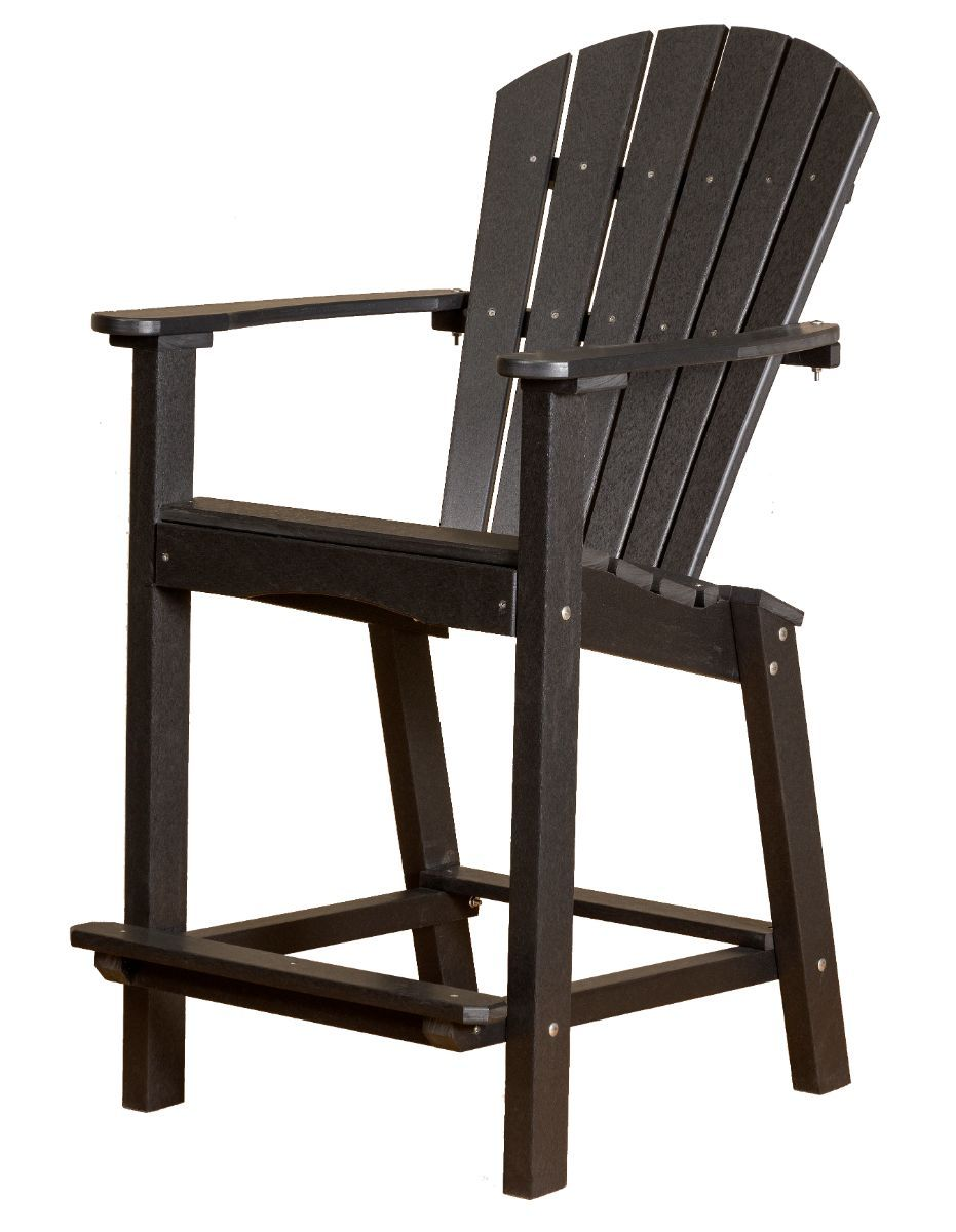 Black Panama High Outdoor Dining Chair