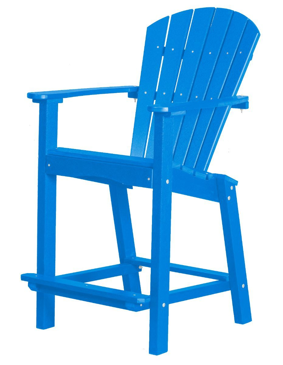 Blue Panama High Outdoor Dining Chair