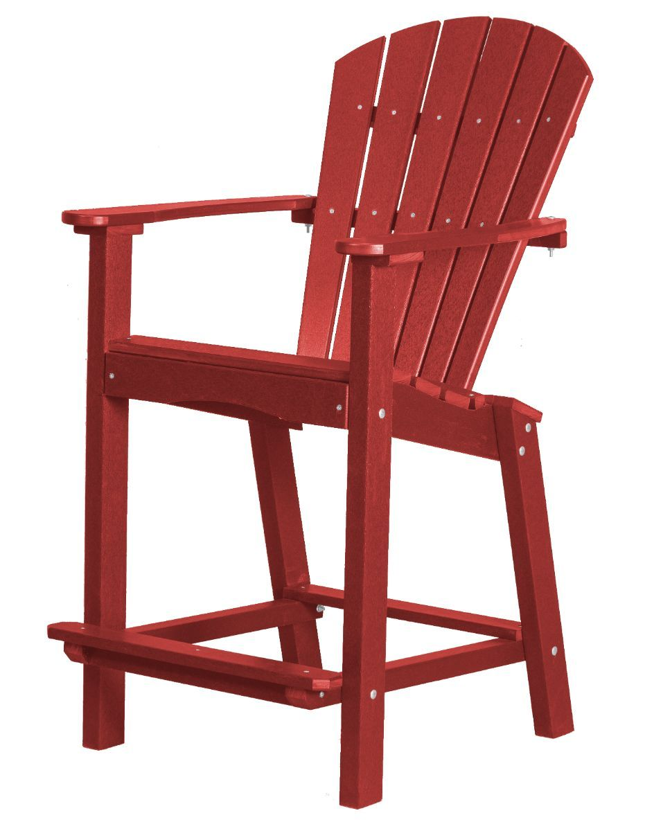 Cardinal Red Panama High Outdoor Dining Chair