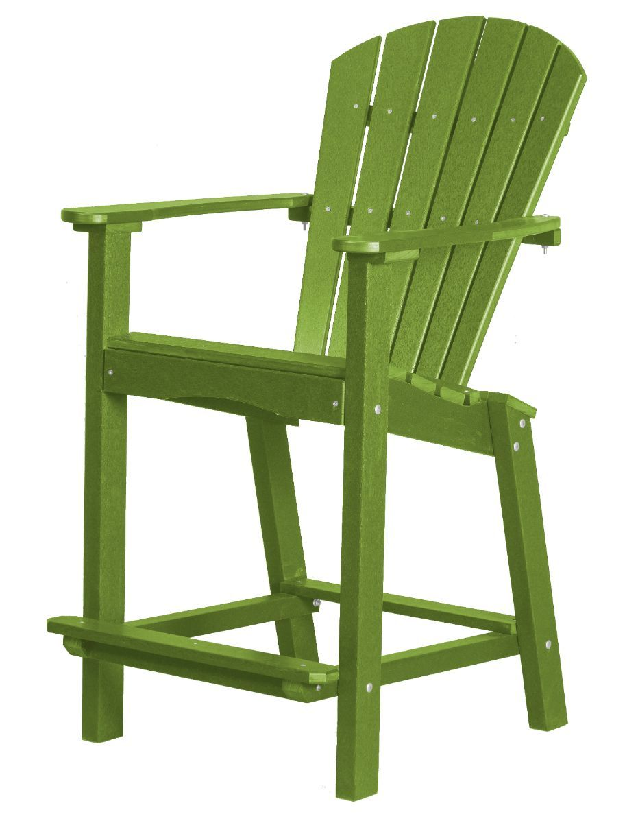 Lime Green Panama High Outdoor Dining Chair