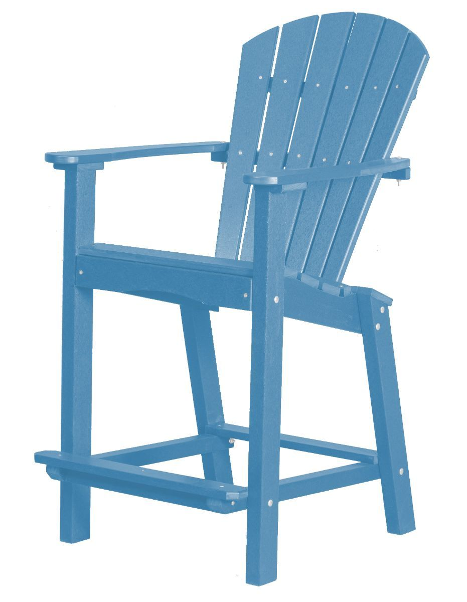 Powder Blue Panama High Outdoor Dining Chair