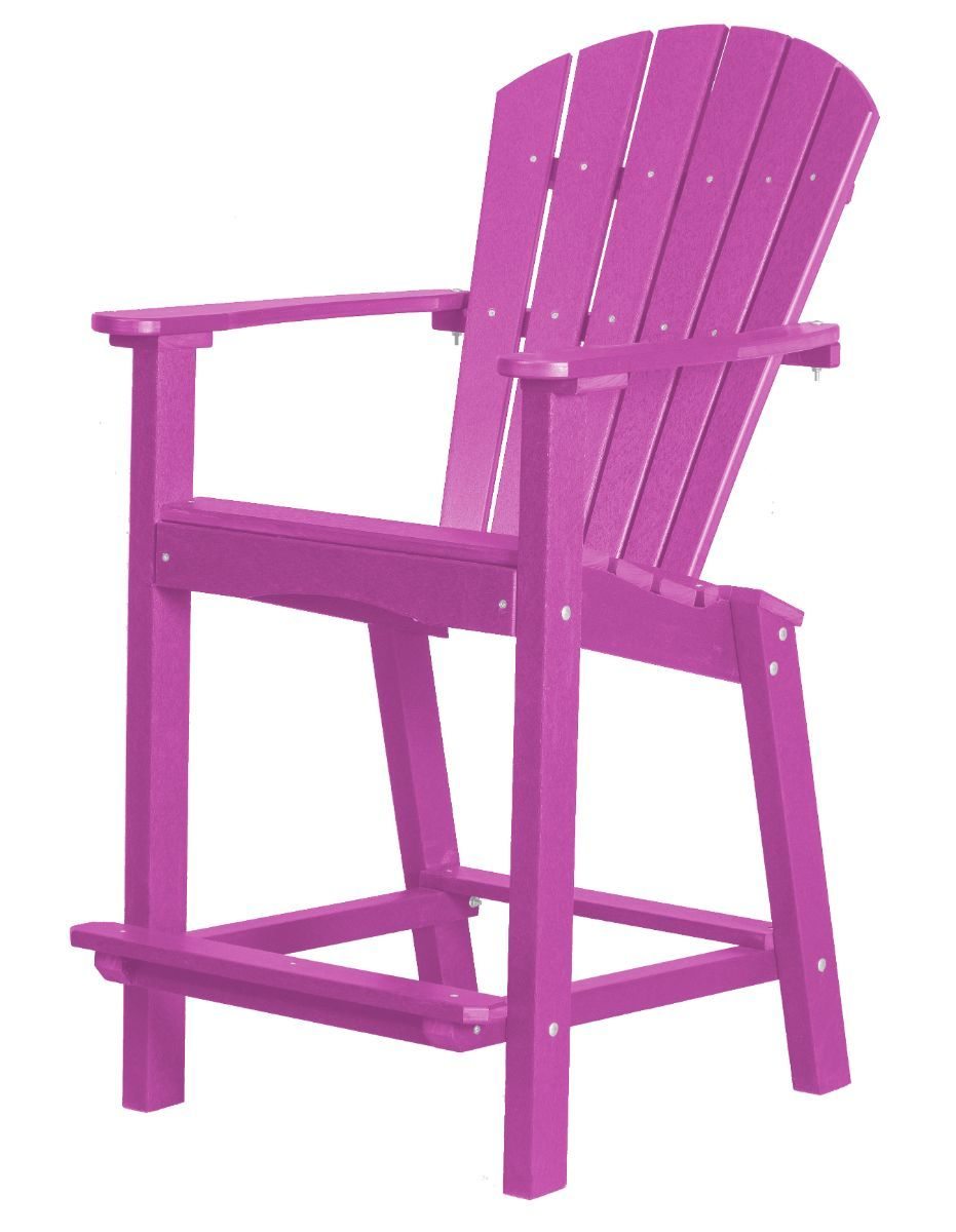 Purple Panama High Outdoor Dining Chair