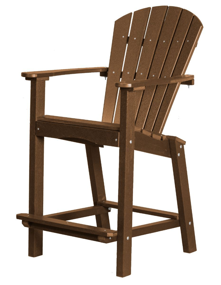 Tudor Brown Panama High Outdoor Dining Chair