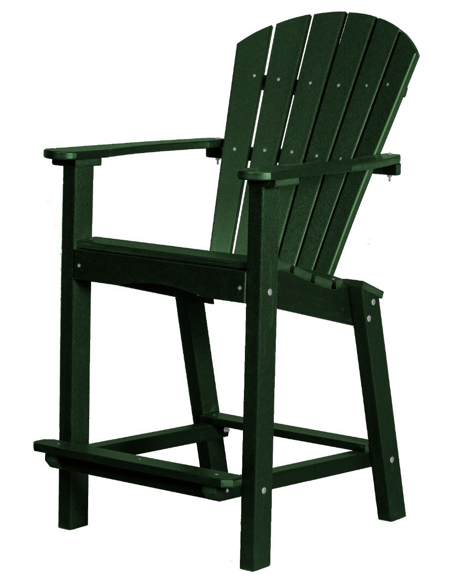 Turf Green Panama High Outdoor Dining Chair