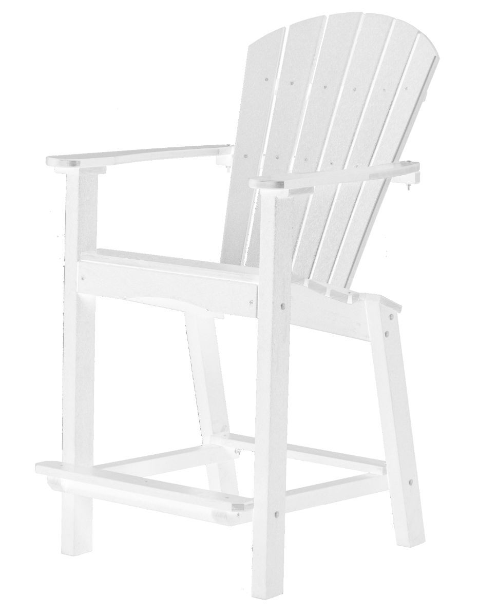 White Panama High Outdoor Dining Chair