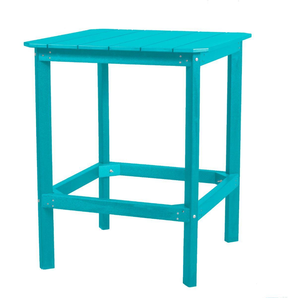 Aruba Blue Panama High Outdoor Dining Table