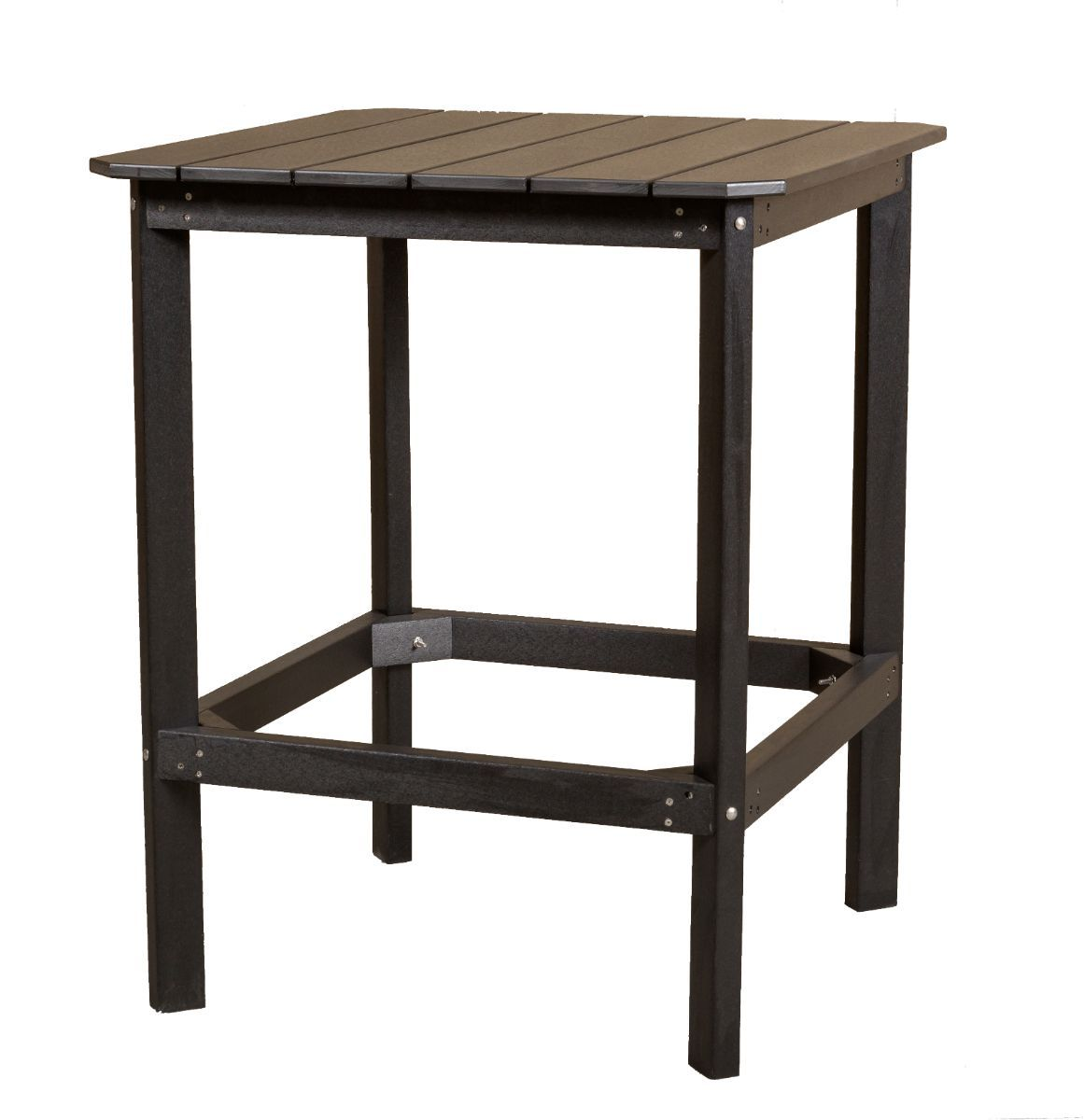 Black Panama High Outdoor Dining Table