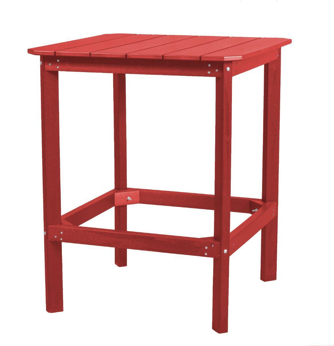 Cardinal Red Panama High Outdoor Dining Table