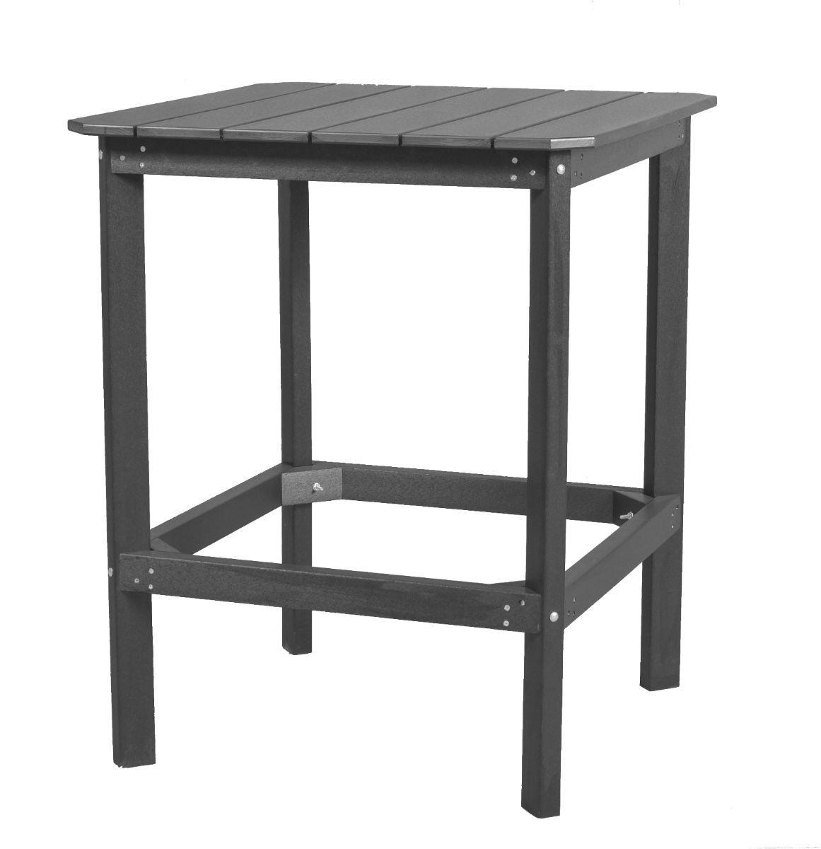 Dark Gray Panama High Outdoor Dining Table