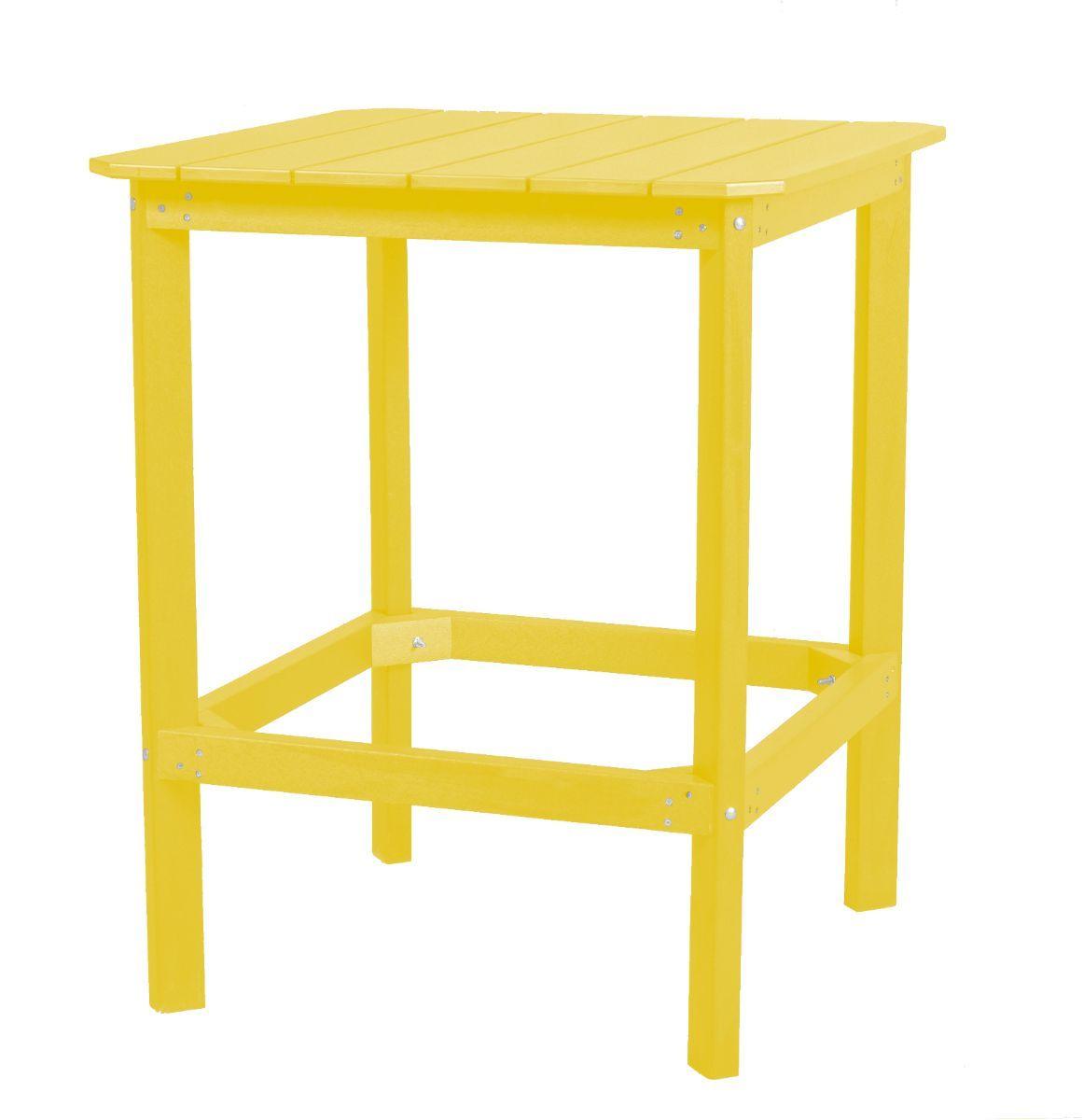 Lemon Yellow Panama High Outdoor Dining Table