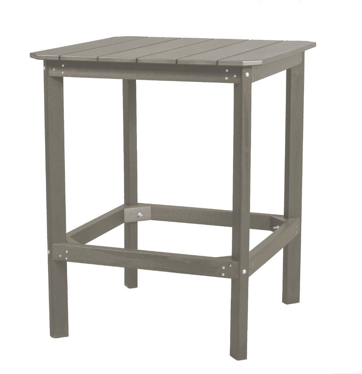 Light Gray Panama High Outdoor Dining Table