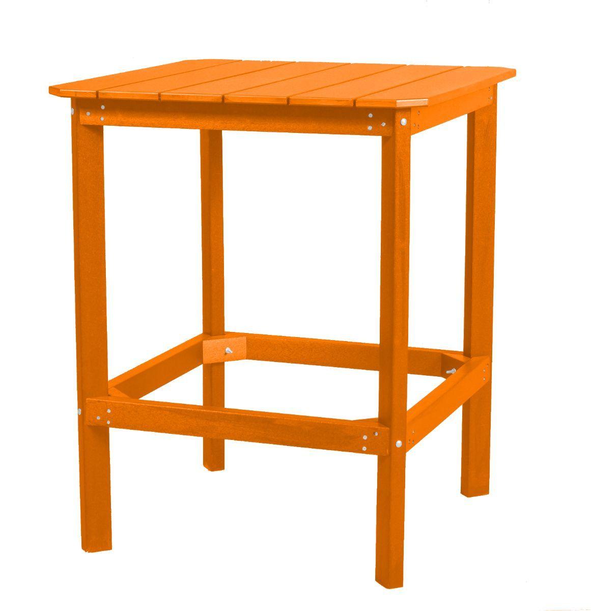 Bright Orange Panama High Outdoor Dining Table
