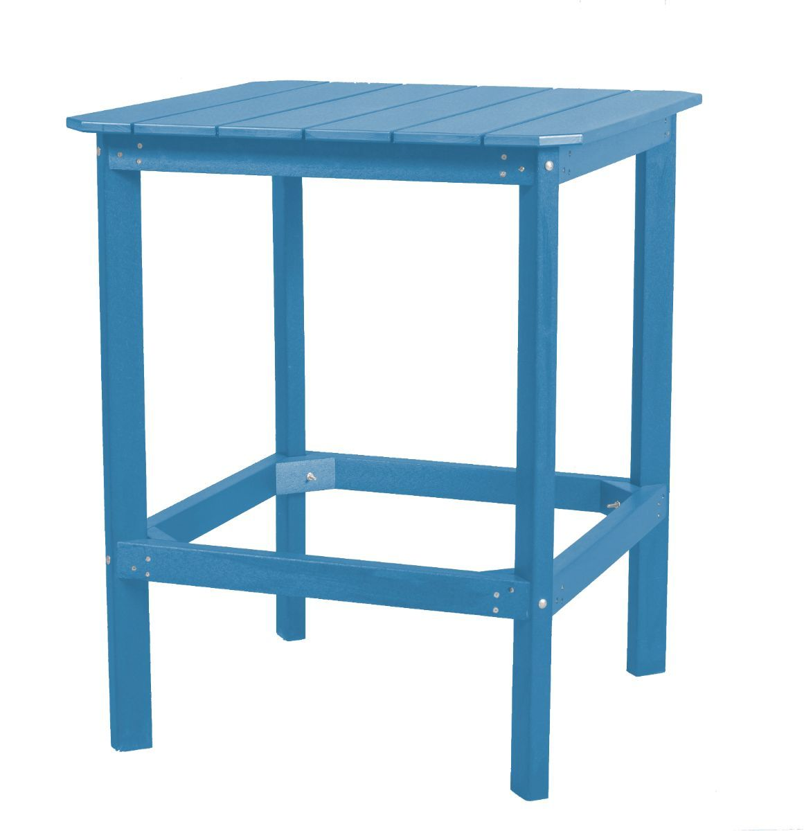 Powder Blue Panama High Outdoor Dining Table