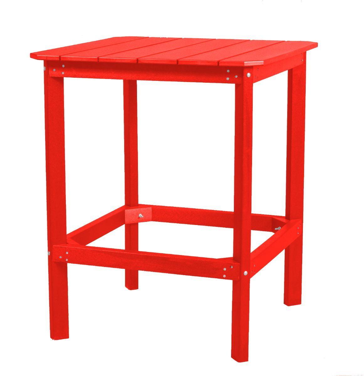 Bright Red Panama High Outdoor Dining Table