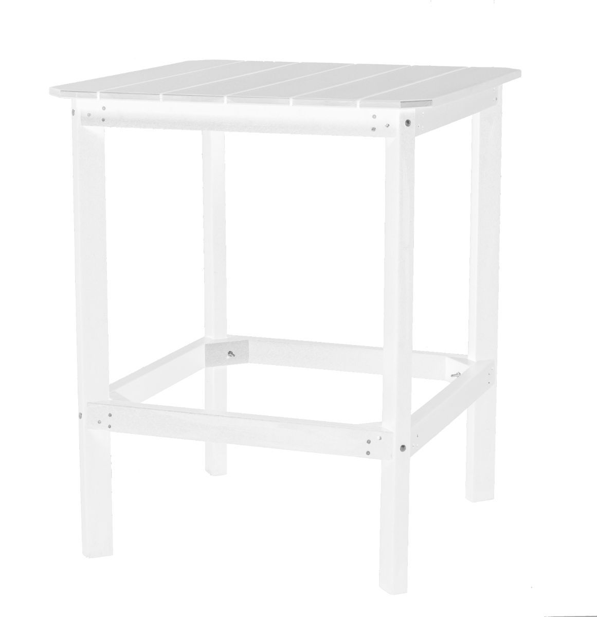 White Panama High Outdoor Dining Table