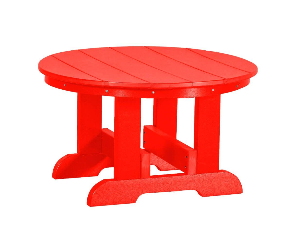 Bright Red Sidra Outdoor Conversation Table