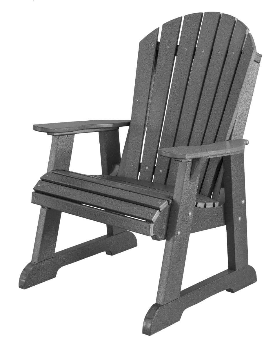 Dark Gray Sidra Adirondack Dining Chair