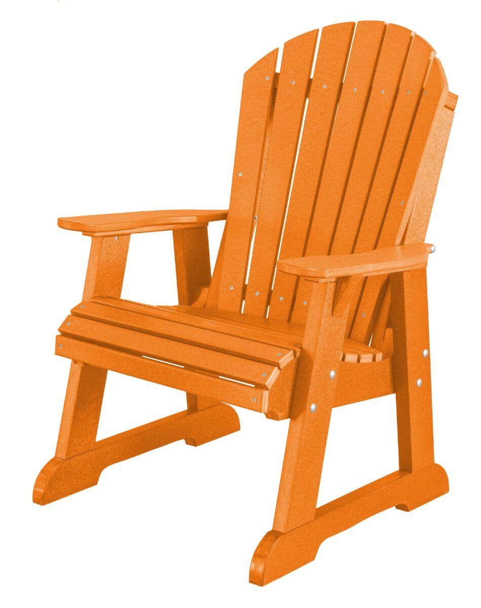 Bright Orange Sidra Adirondack Dining Chair