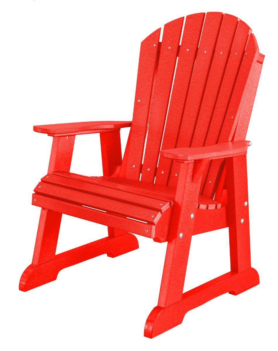 Bright Red Sidra Adirondack Dining Chair
