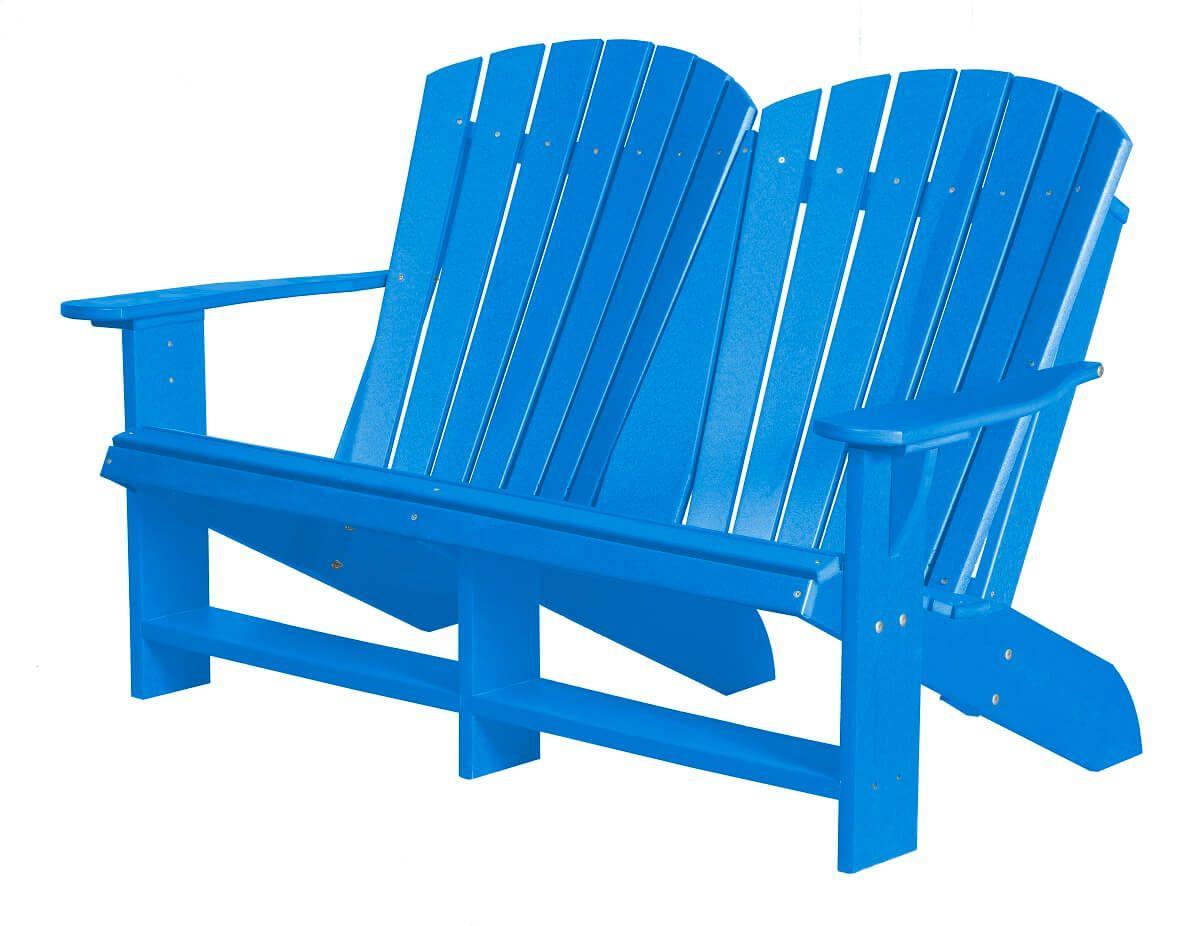 Blue Sidra Double Adirondack
