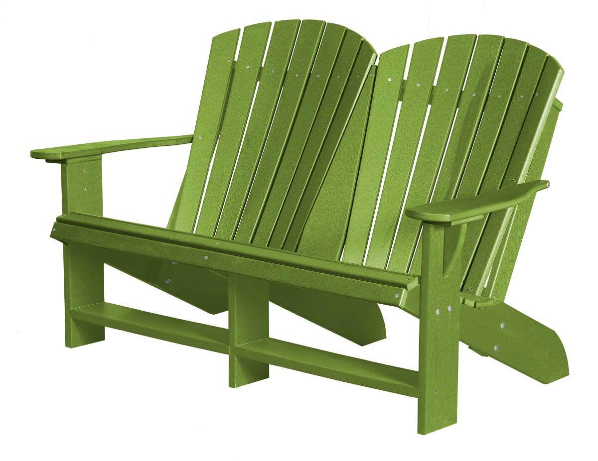 Lime Green Sidra Double Adirondack