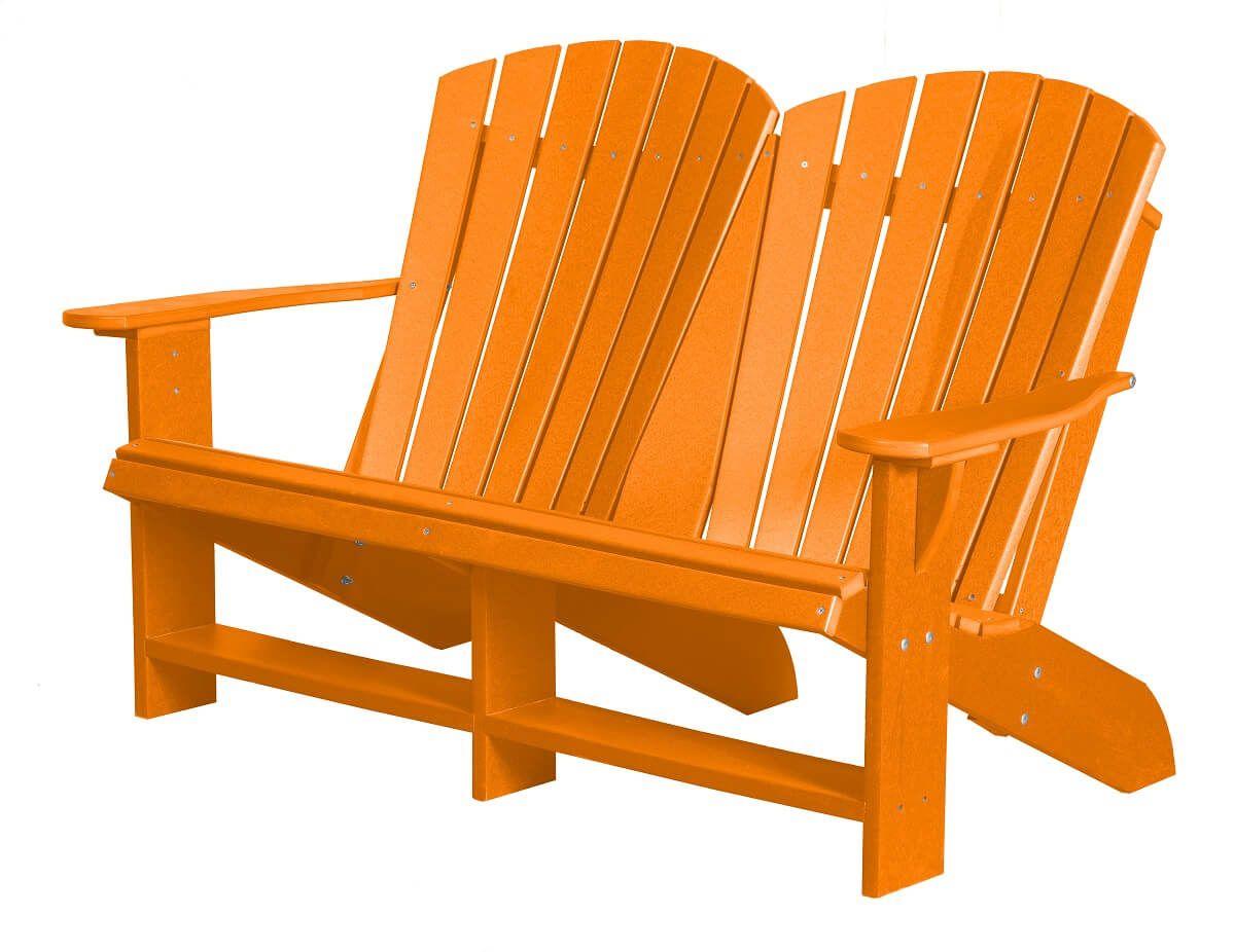 Bright Orange Sidra Double Adirondack